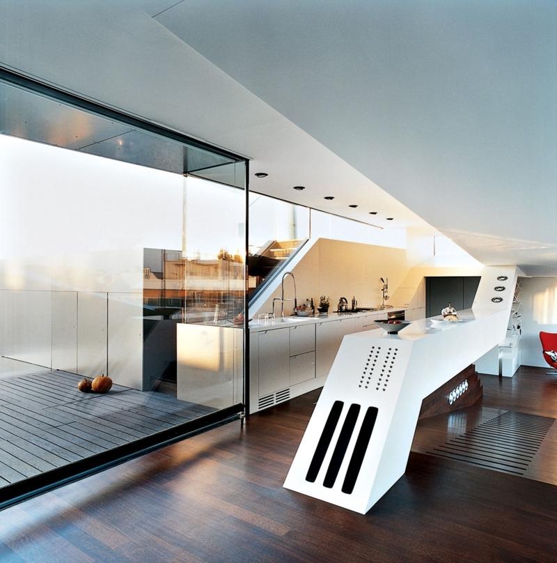 minimalistisches Küchendesign Kücheneinrichtung Ideen für Männer