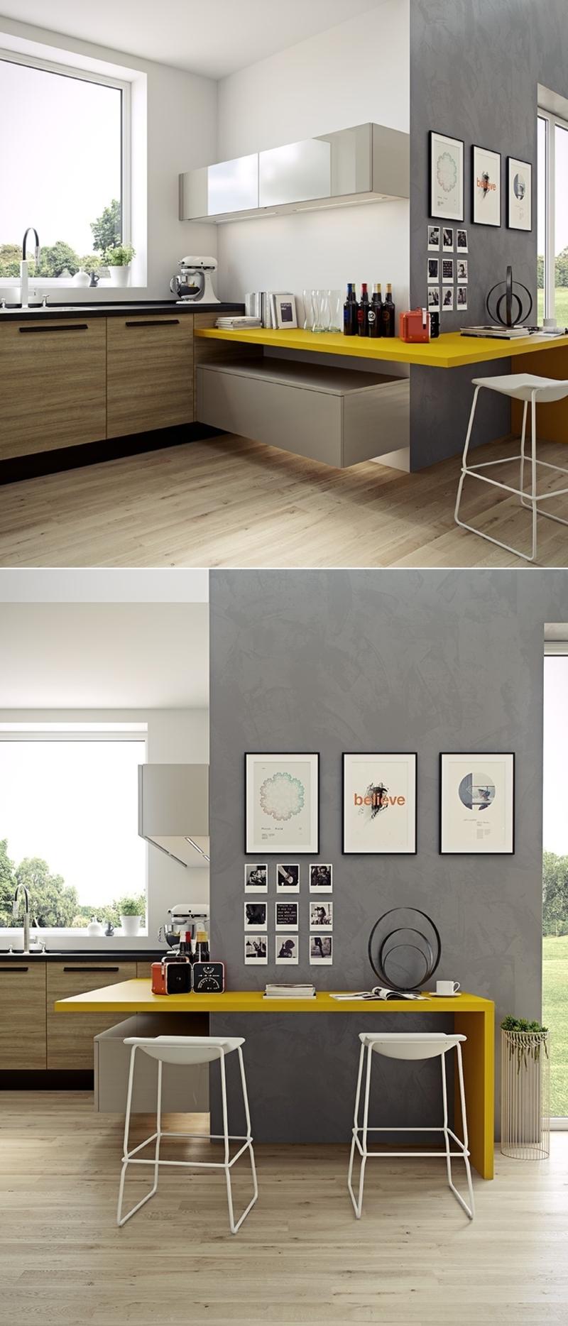 minimalistisches Küchendesign kleine Küche einrichten