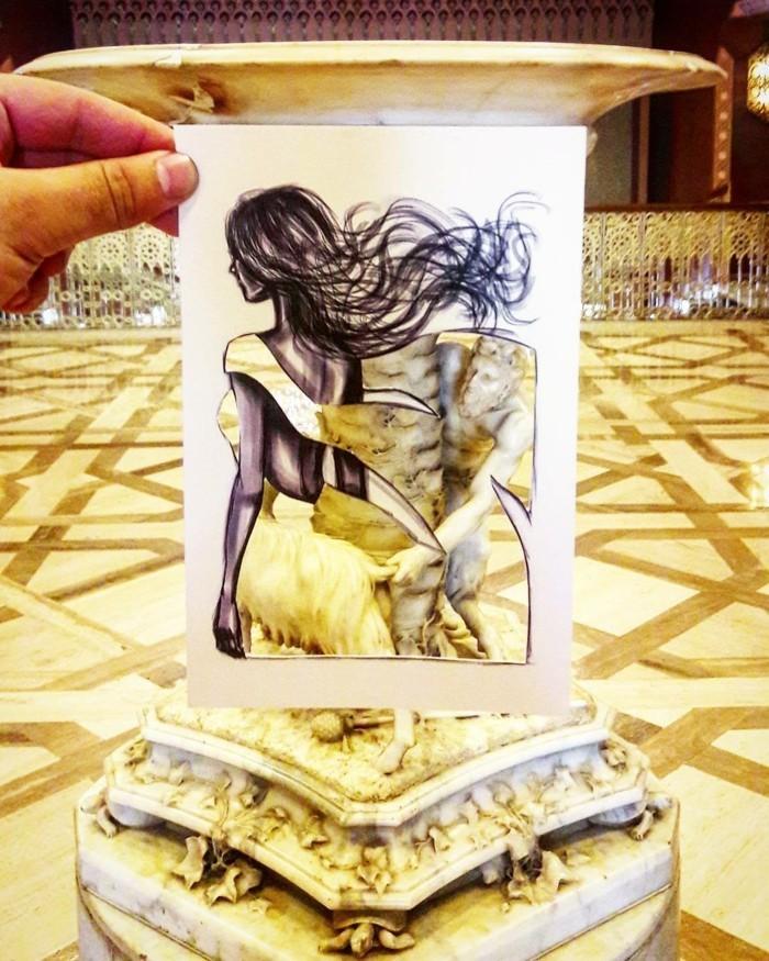 mode-zeichnen-damenmode-fashion-abendkleid-gelb-antike-urne-vase
