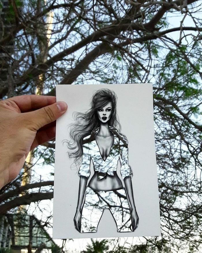 mode-zeichnen-damenmode-illustrationen-bäume