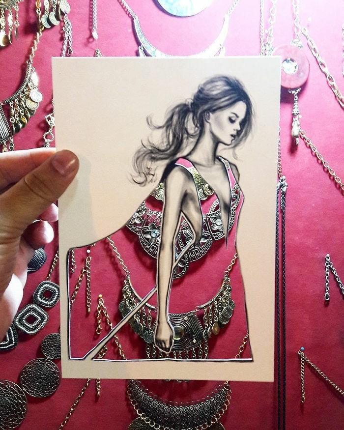 mode-zeichnen-damenmode-schmuck-fashion-modell