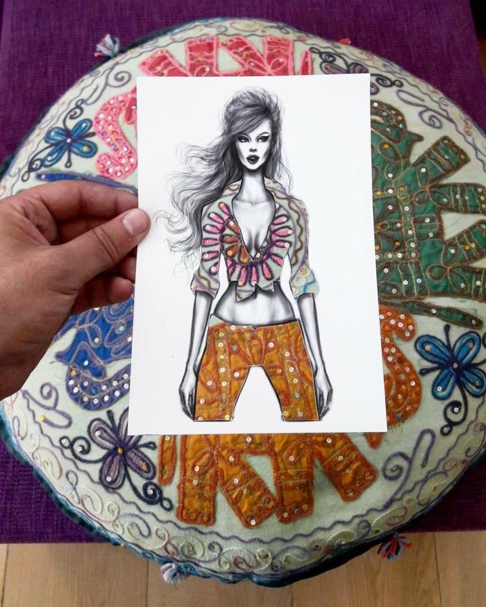 mode-zeichnen-damenmode-stickarbeit-indische-kleidung-ethno-kleidung