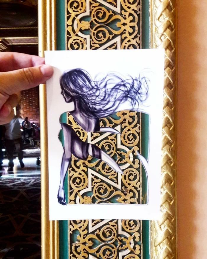 mode-zeichnen-damenmode-türkante-holzschnitzereien-fashion-papierausschnitt