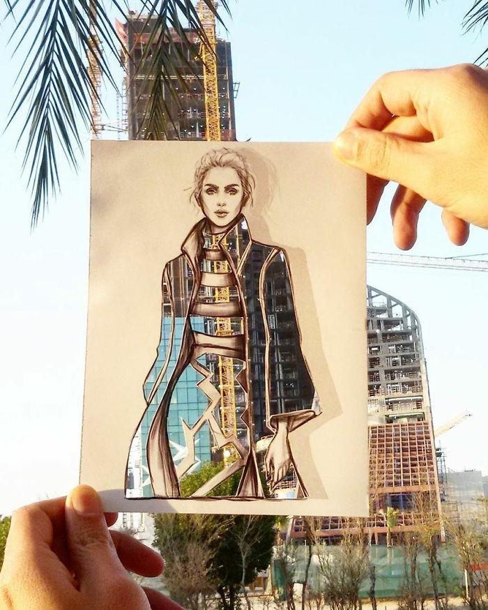 mode-zeichnen-damenmode-urban-style-moderne-architektur