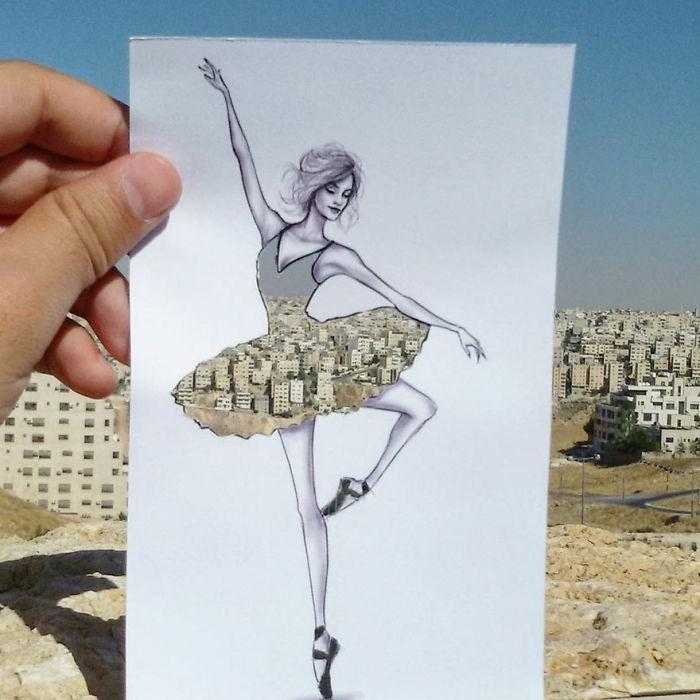 mode-zeichnen-wohnblock-aussicht-stadt-panorama-ballerina