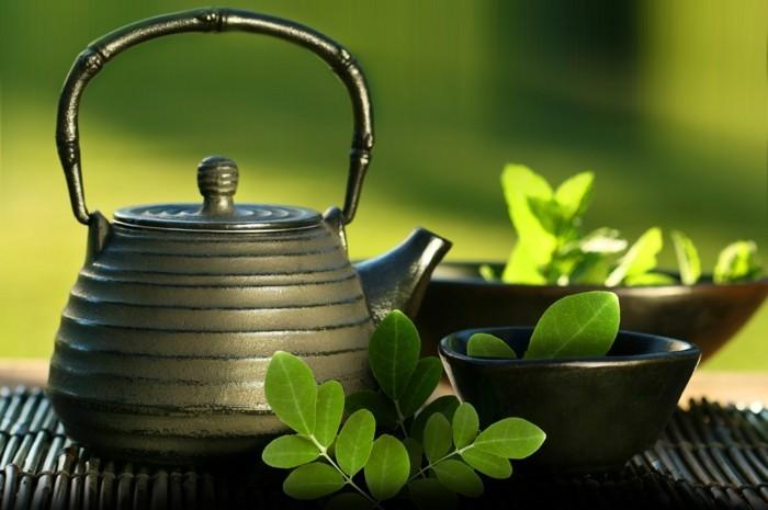 moringa blätter tee trinken gesund