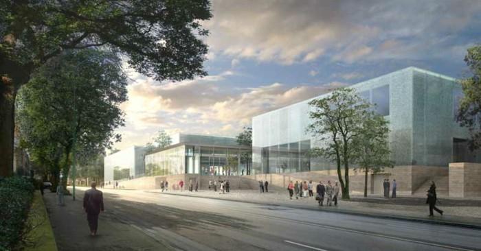 museum folkwang museum eingang ausstellungshalle ansicht