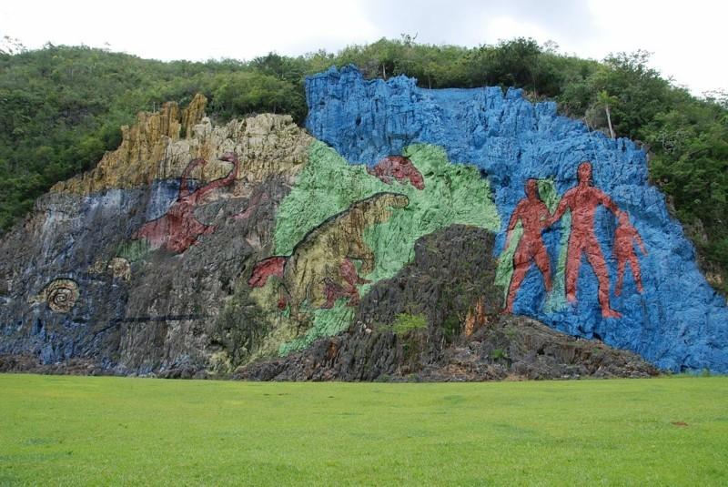 Kuba Reise Vinales Valley Mural de la Prehistoria