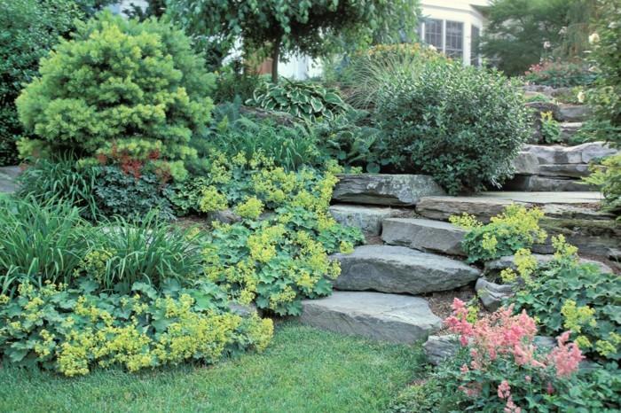 natursteine gartengestaltung treppe natursteinplatten