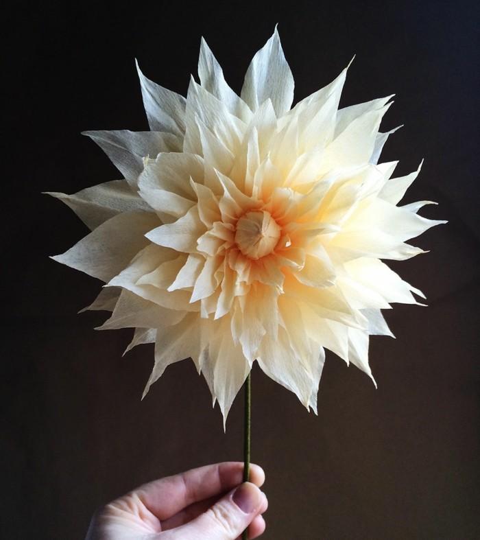 papierblumen basteln papierkunst blume dekoration