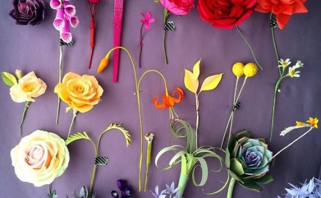 papierblumen-basteln-papierkunst-diy-dekoideen