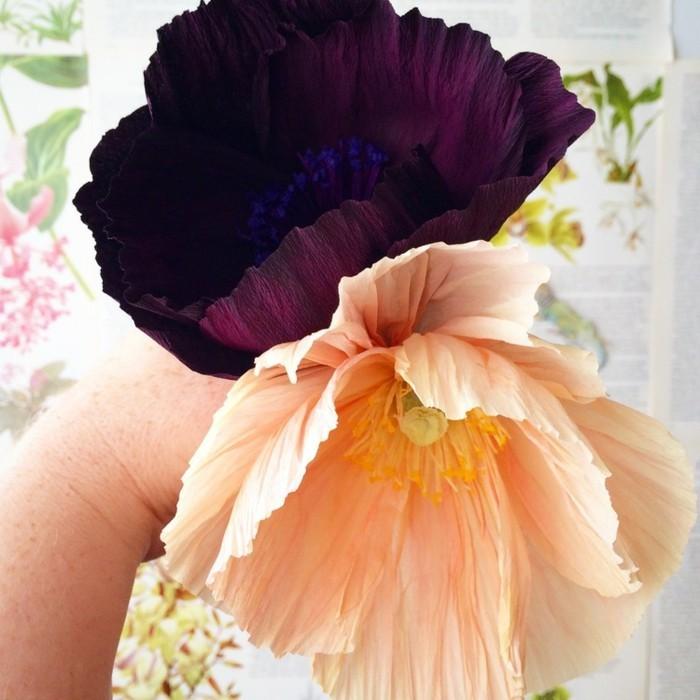 papierblumen basteln papierkunst sommerblumen