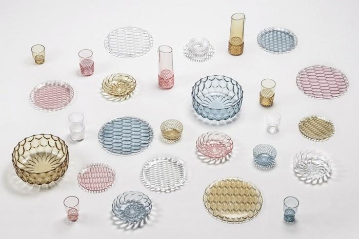 partygeschirr bunter kunststoff pmma innovatives material teller schalen vasen