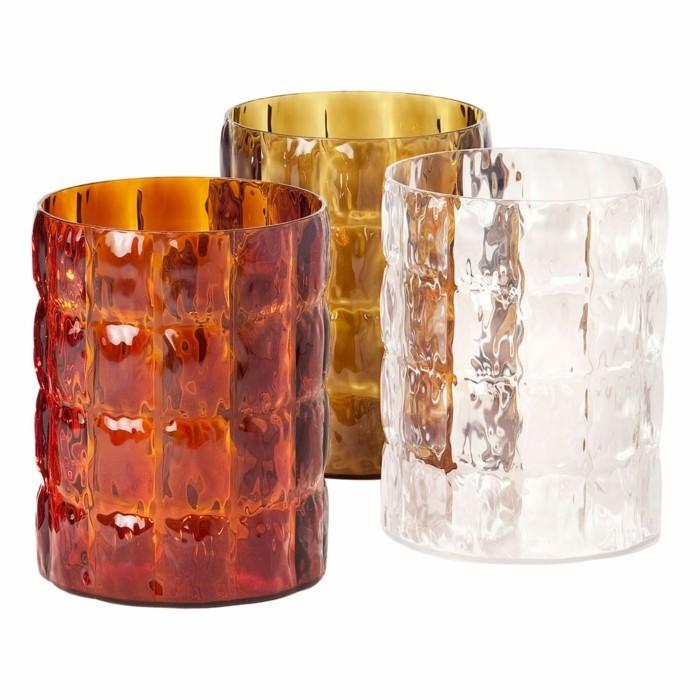 partygeschirr bunter kunststoff pmma vasen matelasse kartell