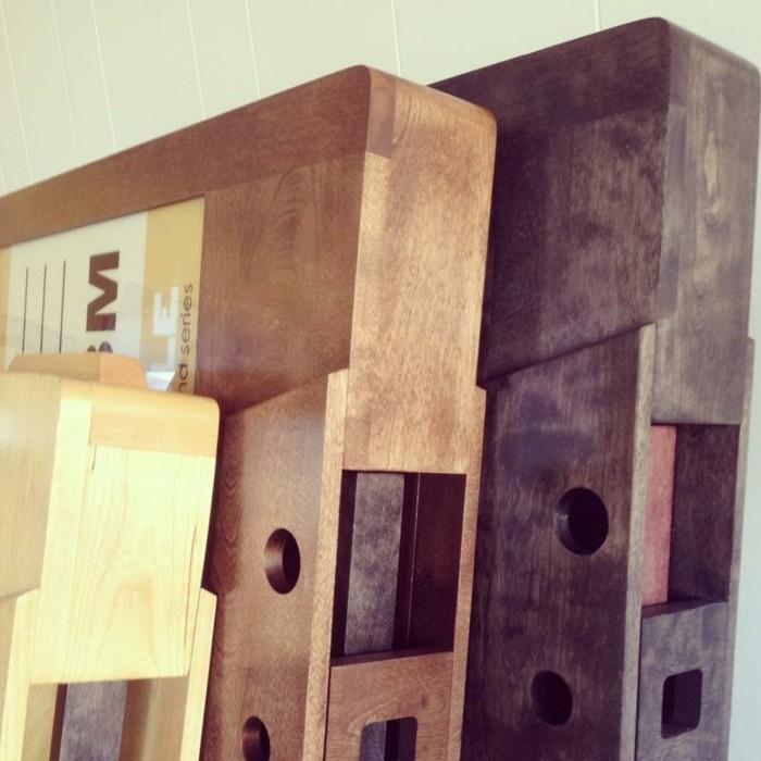 retro couchtisch holz kassetten design wohnzimmertisch