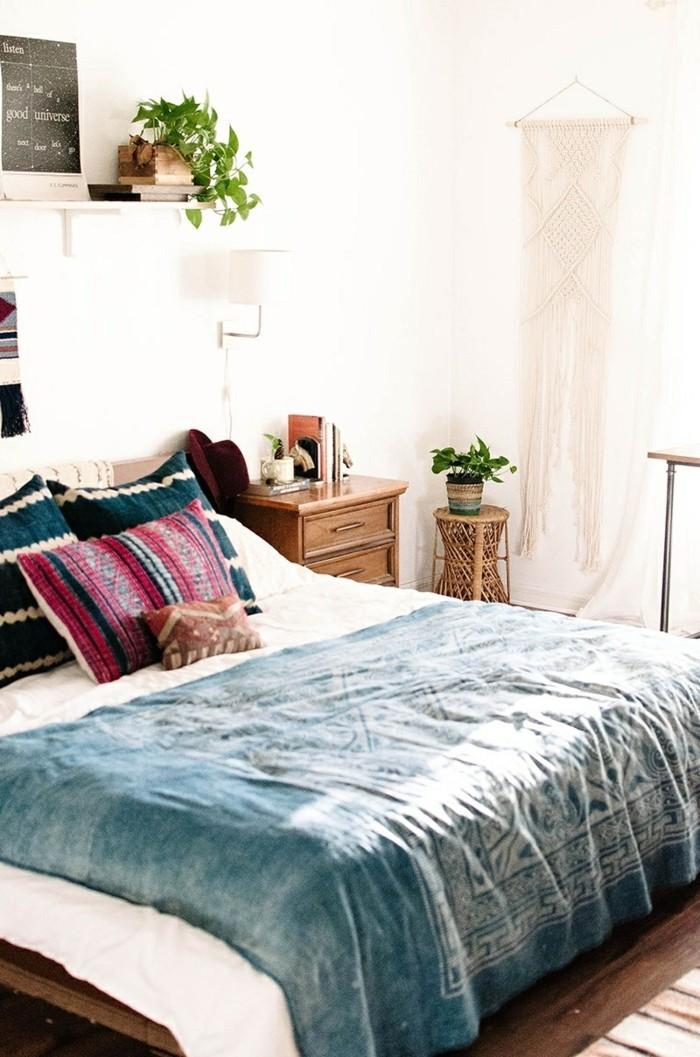 schlafzimmer deko ideen pflanze dekokissen