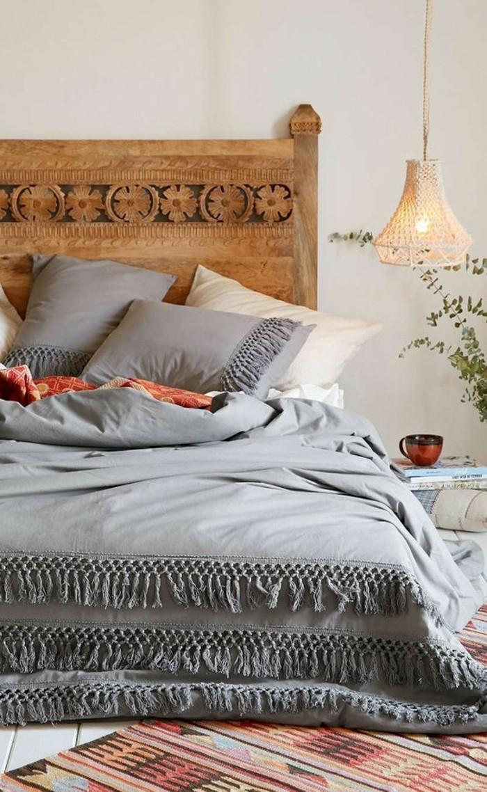 schlafzimmer lampe hängelampe schönes bettkopfteil