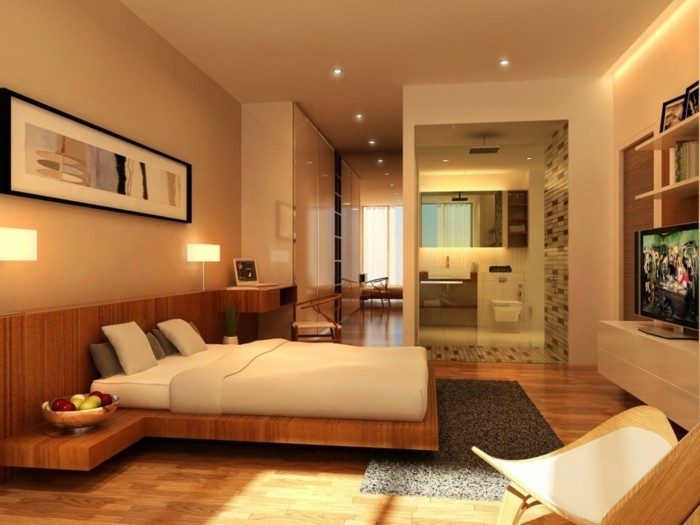 Wandfarbe Schlafzimmer Beispiele : Schlafzimmer Lampe gesucht – 44 ...