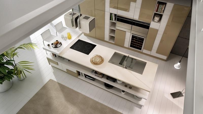schlichtes Küchendesign Kücheneinrichtung Ideen für Männer