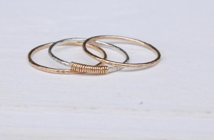 silberringe recycled silber eheringe gold gehämmert
