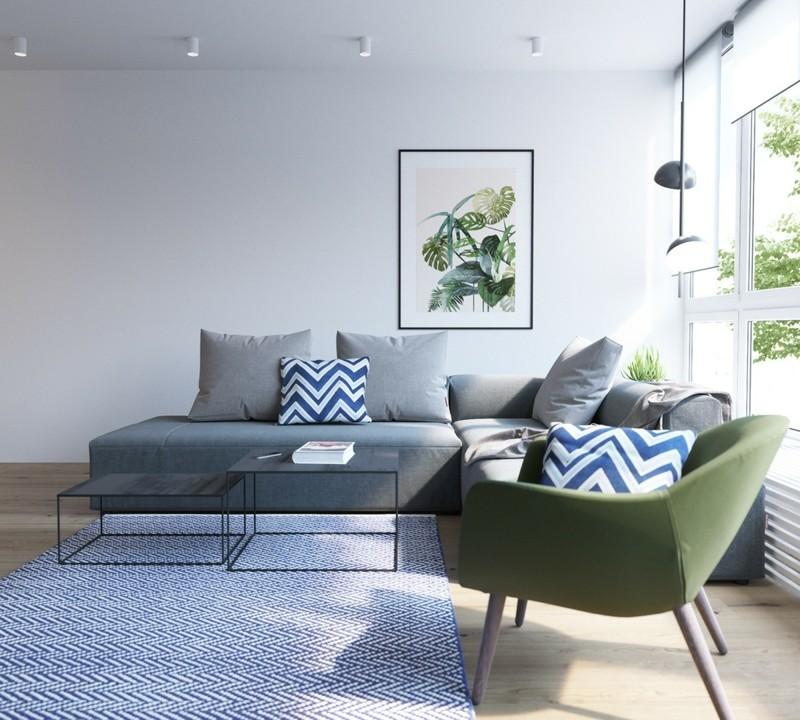 skandinavisch einrichten Wohnzimmer Sofa skandinavische Möbel