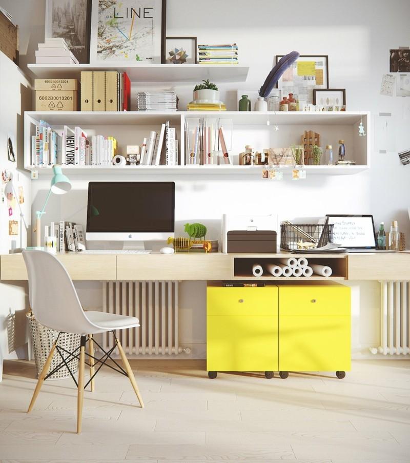 skandinavisch wohnen Arbeitszimmer einrichten Büromöbel skandinavisch einrichten
