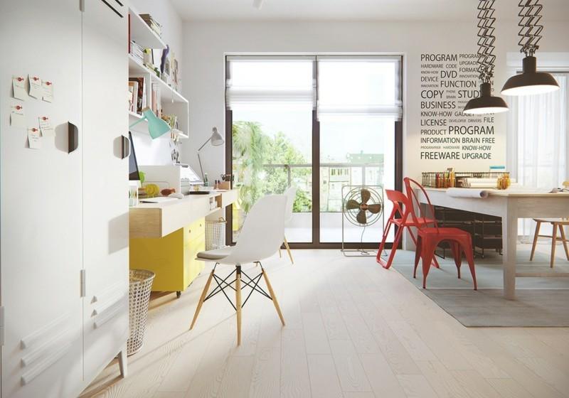 skandinavisch wohnen Arbeitszimmer einrichten Büromöbel skandinavische Deko