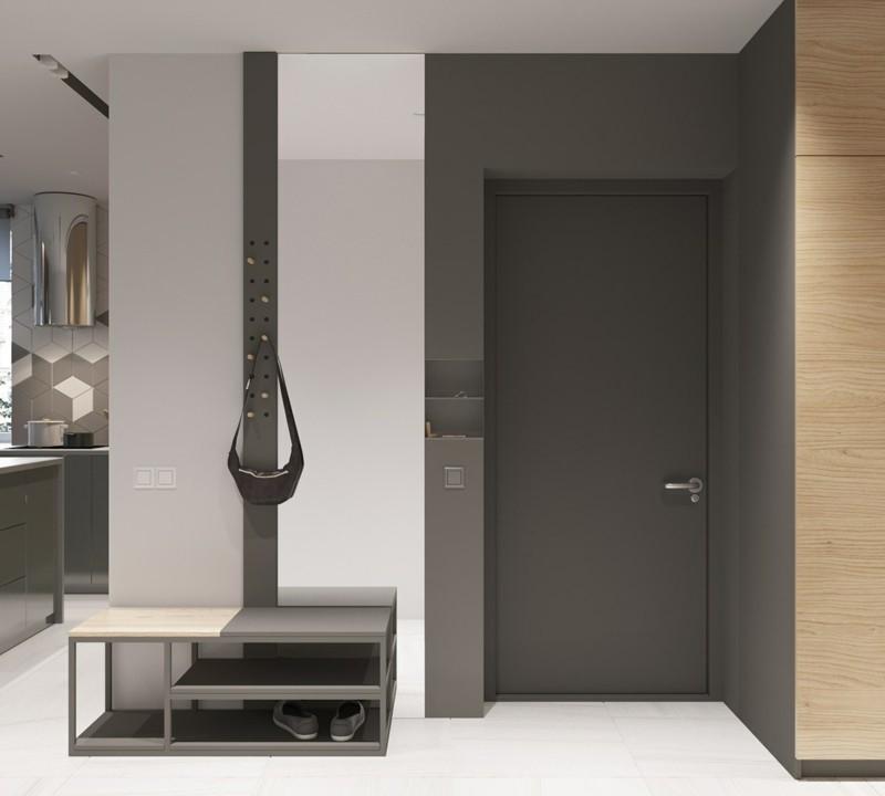 skandinavisch wohnen Flur einrichten skandinavische Möbel