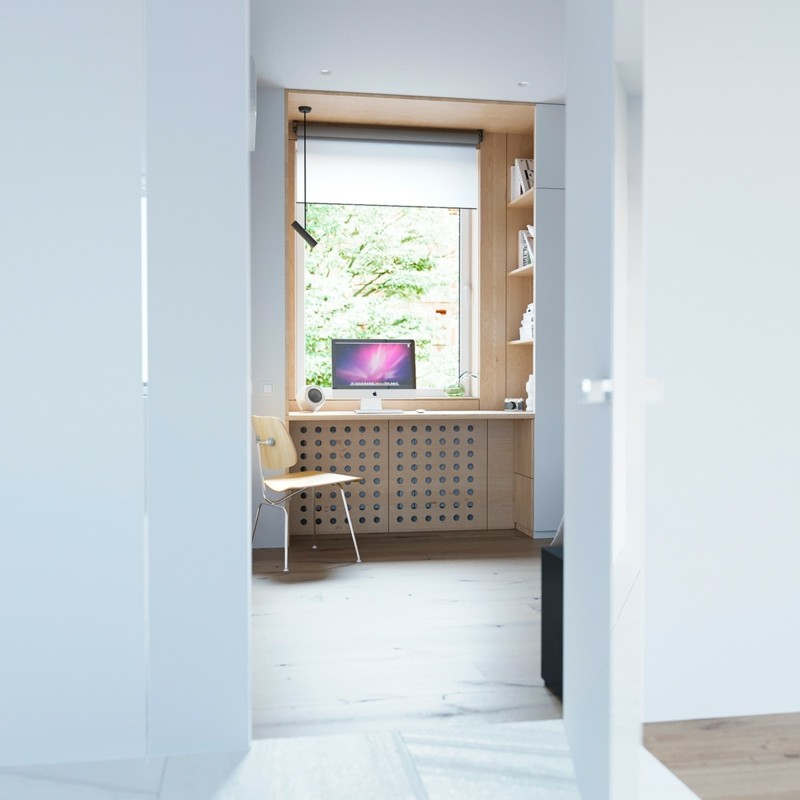 skandinavisch wohnen Kinderzimmer Eingang Büromöbel skandinavische Deko