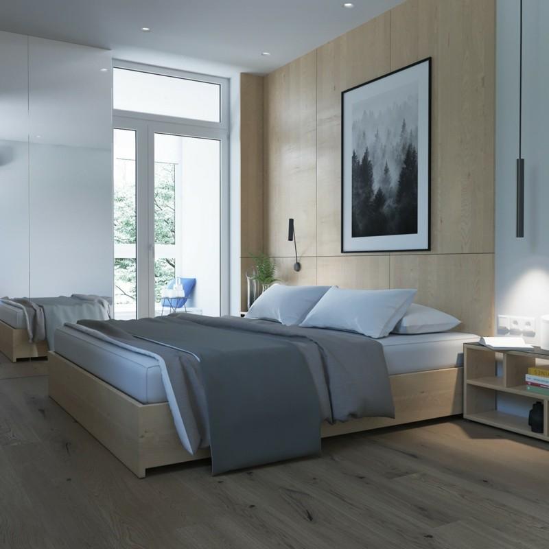skandinavisch wohnen Schlafzimmer Möbel Bett natürliche Materialien Holz