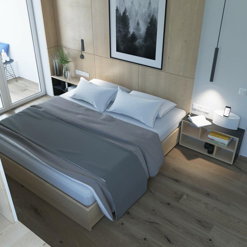 skandinavisch wohnen Schlafzimmer Möbel Bett