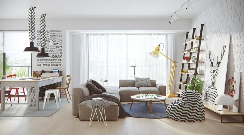 skandinavisch wohnen Wohnzimmer Möbel und Deko skandinavischer Stil