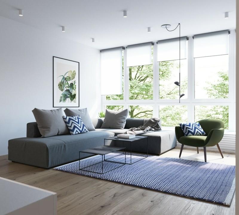 skandinavisch wohnen Wohnzimmer Sofa skandinavische Möbel