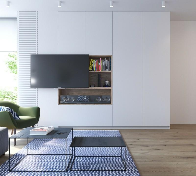 skandinavisch wohnen Wohnzimmer TV Wohnwand skandinavische Möbel