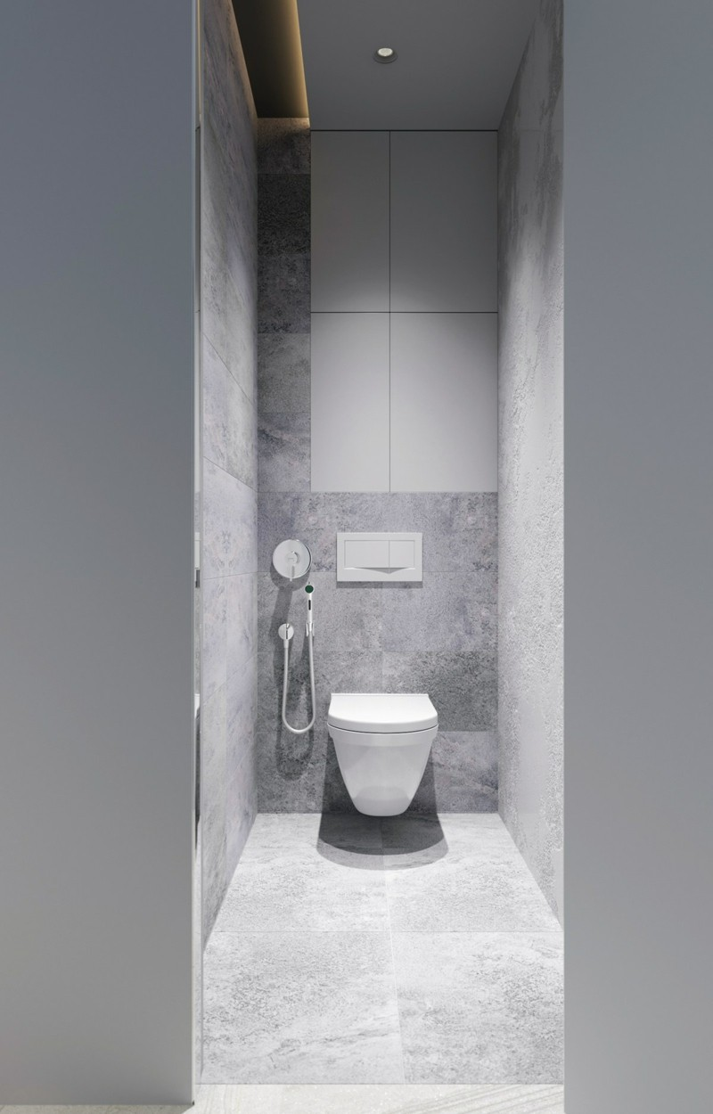 skandinavische Möbel Badezimmer manimalistisch grau einrichten