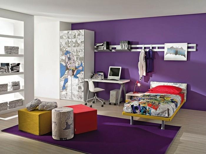 Lila teppich sorgt f r eine gehobene atmosph re im raum - Teppich jungenzimmer ...