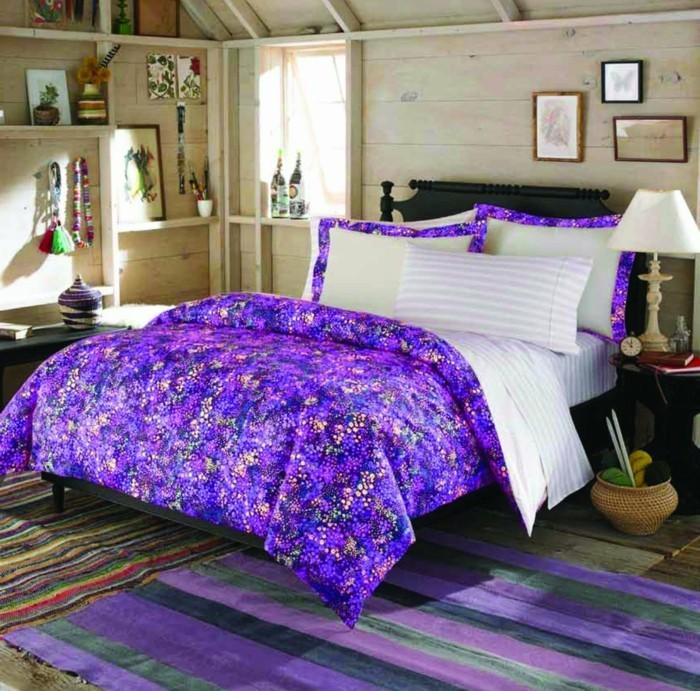 teppich kaufen lila grün streifen schlafzimmer teppich