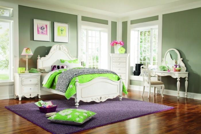 teppich kaufen mädchenzimmer lila teppich