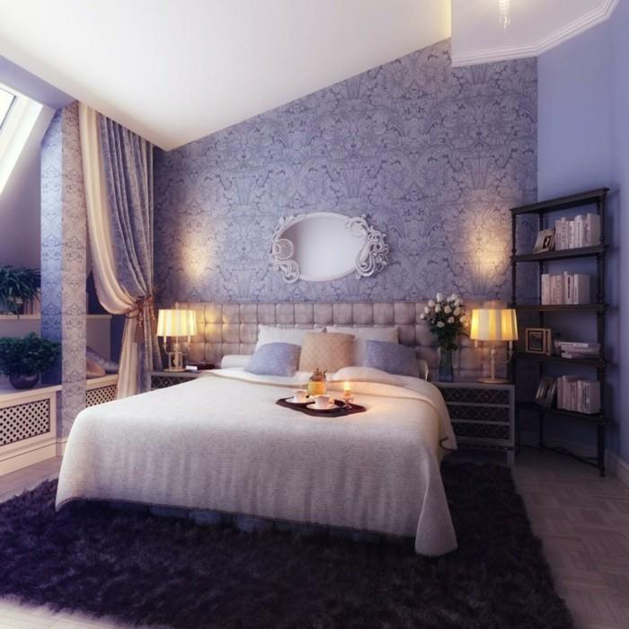 teppich kaufen schlafzimmer gestalten schöne wandtapete