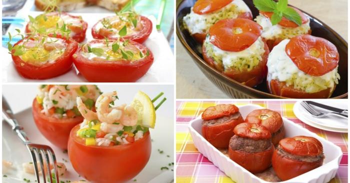 tomaten gesund gefüllt gebacken garnelen reis kräuter
