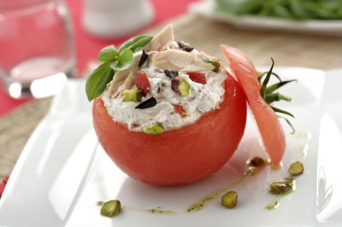 tomaten gesund leichtge rezepte philadelphia pistazien basilikum hähnchen