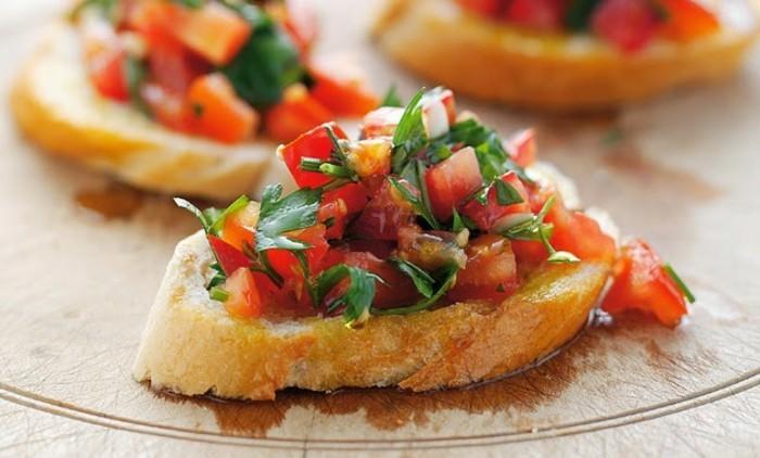 tomaten gesund toast metersilie mediterrane küche