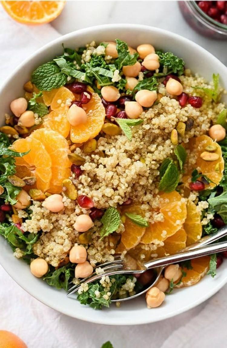 vegetarisches Essen gesund abnehmen Ernährung Salat