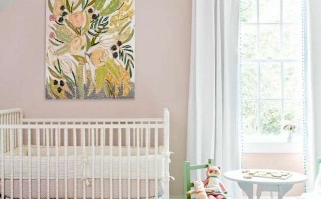 vintage-teppich-wohnideen-kinderzimmer-babyzimmer-gestalten-hellrosa-wände