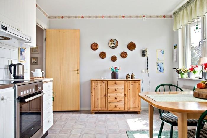 wände dekorieren dekoideen küche teller
