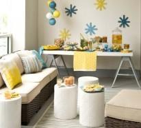Wände dekorieren – 43 Wanddeko Ideen mit Leinwänden, Tellern und Fotos