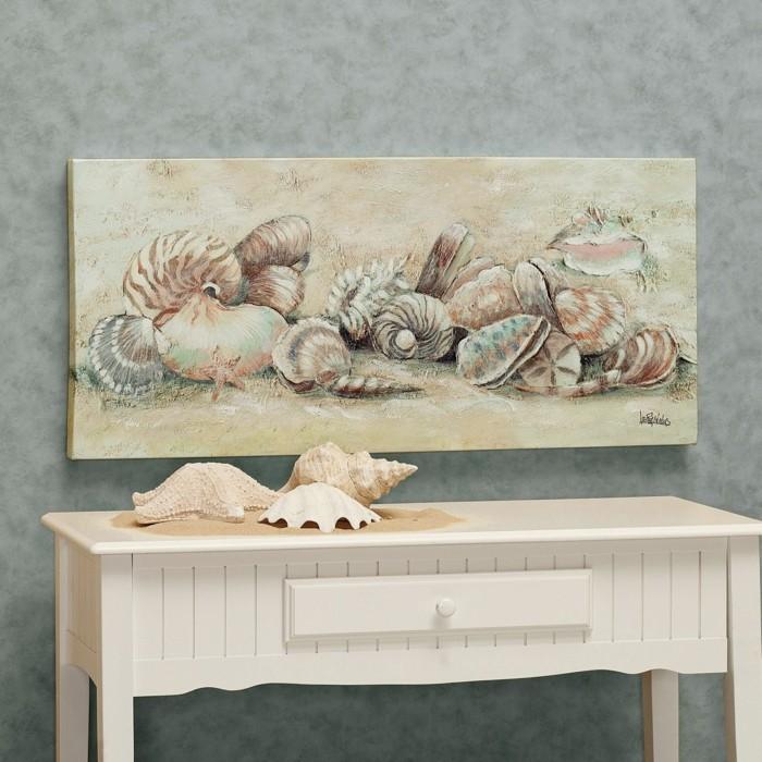 Fotos Wand Dekorieren :  dekorieren  43 Wanddeko Ideen mit Leinwänden, Tellern und Fotos