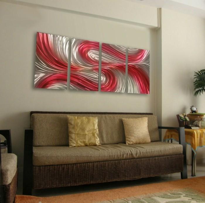 wandbilder wohnzimmer gemütlich krasse akzente