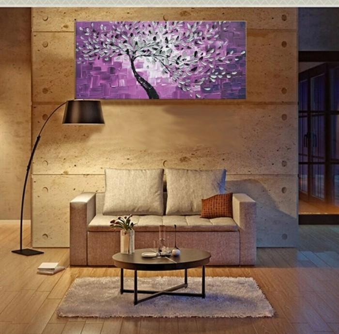 yarial.com = wandbilder lila ~ interessante ideen für die ... - Wandbilder Landhausstil Wohnzimmer