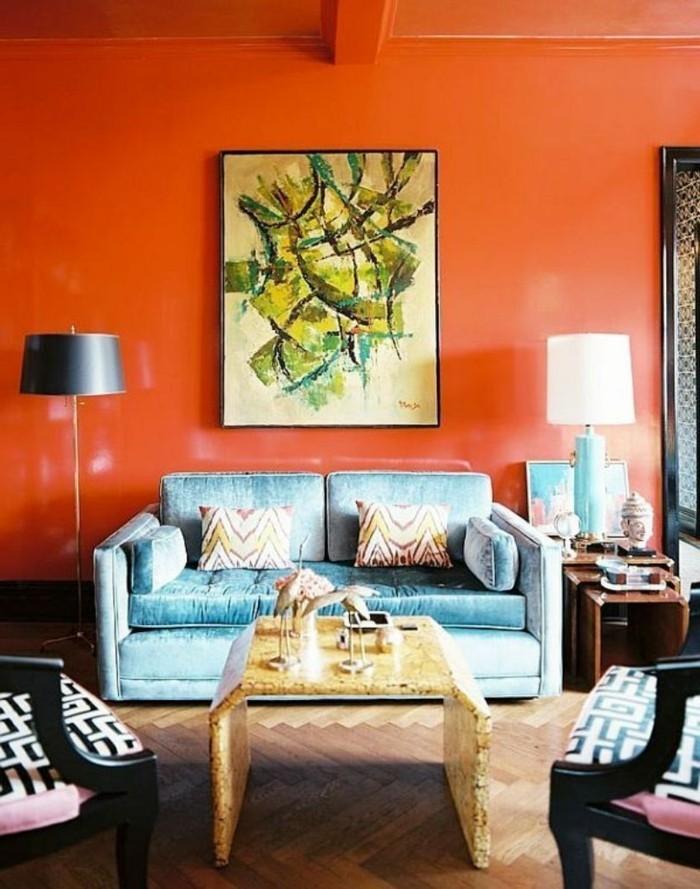 wohnzimmerwände ideen:Wandbilder Wohnzimmer – 33 Ideen, wie Sie die Wohnzimmerwände mit